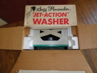 Vtg Suzy Homemaker Topper Toy Jet Action Washer Washing Machine Brand New in Box