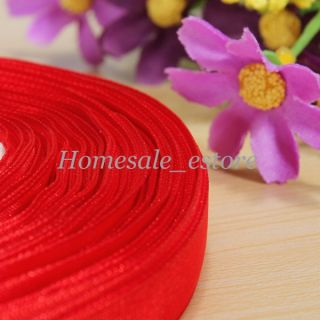 50yd 10mm Wedding Satin Woven Edge Sheer Organza Tulle Ribbon Party Craft New