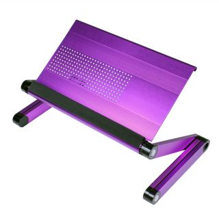 Furinno Adjustable Vented Laptop Table Desk Portable Bed Tray Book Stand Purple