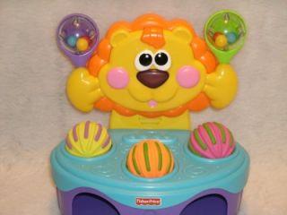 Wonderful Fisher Price Roaring Musical Lion w Balls Sounds N Light Hammer