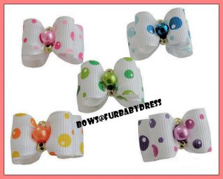 9 Cute Rosebuds Bubble Yorkie Bows Shih Tzu Poodle Maltese Dog Puppy Bow