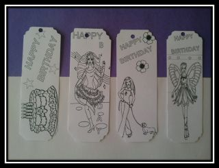 Birthday Party Favors Supplies Color Your Own Barbie Bookmarks