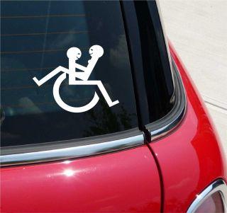 Wheelchair Sex Wheel Chair Handicapped Handicap Graphic Decal Sticker Vinyl Wall