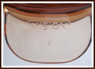 Pyrex Corning Vision Ware Double Boil Insert Lid Stock Pot Dutch Amber 1 5L