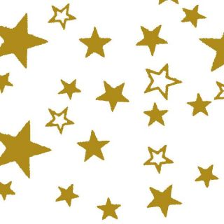 Gift Wrapping Paper Bulk Roll Wrap Gold Stars White Background 50 Metres