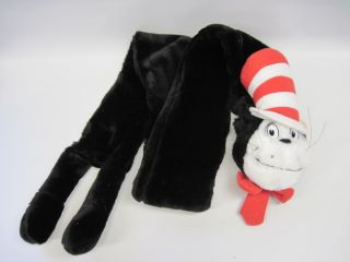 Cat in The Hat Dr Seuss Scarf RARE Plush Stuffed Animal