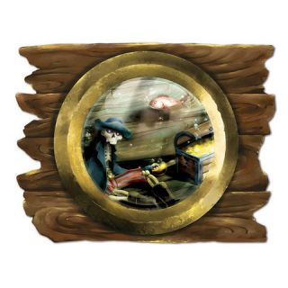 Pirate Party Theme Sunken SHIP Porthole Cardboard Cutout Party Decoration