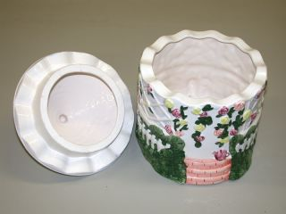 "Gazebo Motif Ceramic Cookie Jar 7"" H x 8"" Dia"