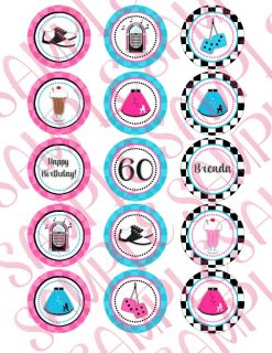 Custom 50's Themed Party Invitations and Supplies 1950's Sock Hop Diner