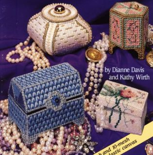 Treasure Boxes Plastic Canvas Pattern Book