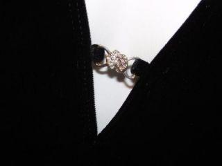 Hot Kiss Black Velvet Catsuit Jumpsuit Glam Disco One Piece Halter Pants Suit M