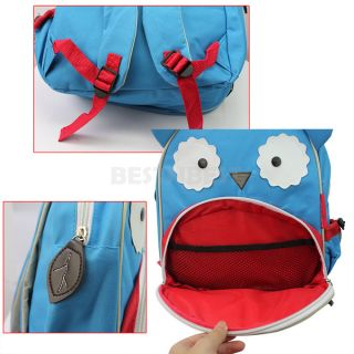 Kids Baby Unisex Cute Animal Owl Cartoon Backpack Shoulder Book School Bag