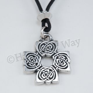 The Rose Cross Pendant Celtic Knotwork Necklace Protection Symbol Knot Work AU