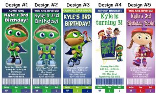 Super why readers birthday party ticket invitations supplies and favors filmwisefo