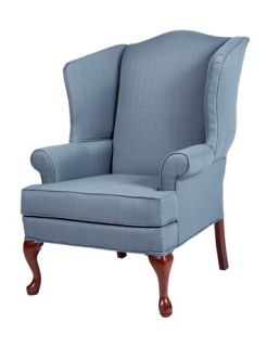 Erin Blue Wing Back Chair 7000 04