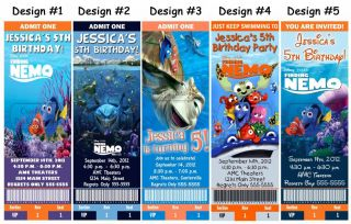 Finding Nemo Movie Birthday Party Ticket Invitations Supplies Favors