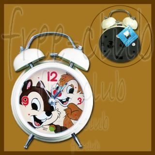 Authentic Disney Chip Dale Party Hammer Twin Bell Alarm Clock
