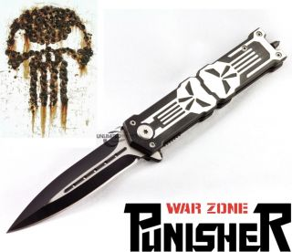 "8 25"" Protek Punisher Stiletto Spring Assisted Knife Folding Blade Pocket Switch"