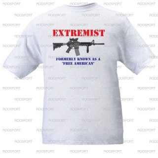 """Extremist"" T Shirt Molon Labe 2nd Amendment Protest Ar15"