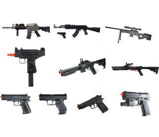 10x Used Airsoft Gun Shotgun Pistol Sniper Rifle Gun Lot Spring Electric AEG BB