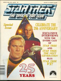 1991 Star Trek Official Fan Club Magazine 25 Years