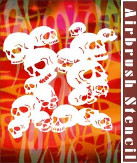 Skull Airbrush Stencil Template Background Art Car Craft Paint Party 010030Y 9
