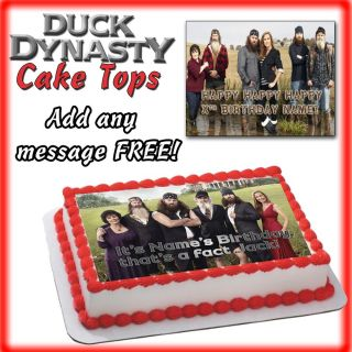 Duck Dynasty Birthday Cake Edible Topper Photo Image Picture Sugar Decal Sticker