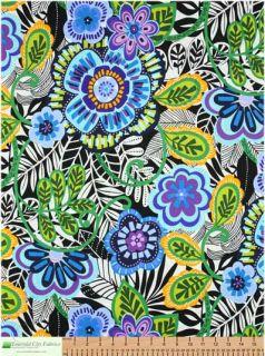 Alexander Henry Africa Cameroun Pool Blue Cotton Fabric