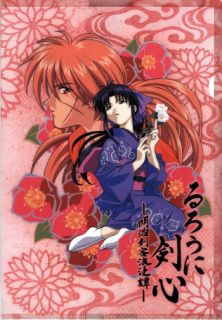 Rurouni Kenshin Samurai x Folder Clear File Kenshin x Kaoru Fujiterebi