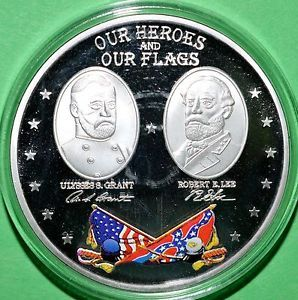 Civil War Battle Flags Commemorative Coin Our Heroes and Our Flags