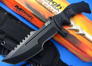 MTech USA Extreme Heavy Duty Black 5mm Thick Tanto Blade Tactical Fighting Knife