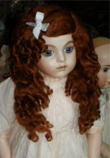 Great Mohair Wig for French German Antique Reproduction Dolls Size 11 12