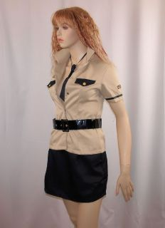 Sexy Army Sergeant Womens Fancy Dress Costume 4 Piece Set Size Fits 8 10