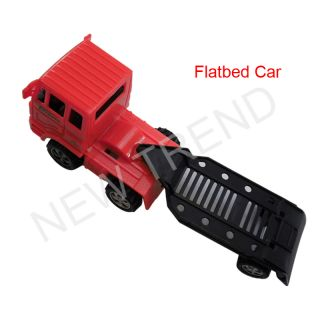 Flatbed Car Vehicle Auto Backhoe Tractor Trailer Toys Farm Loader Construction