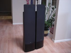 Awesome Pair Martin Logan Montage Black Floor Standing Speakers Excellent