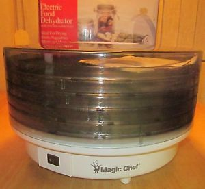 Magic Chef Electric Food Dehydrator Model 469 1 Five Tray with on Off Fan