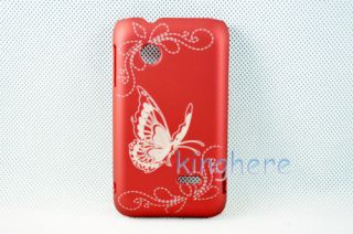 Butterfly Print Protective Hard Case Cover Shell for Sony Xperia Tipo Dual ST21I