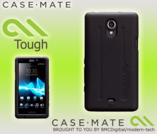 Case Mate Black Tough Hard Case Cover for Sony Xperia T CM022842