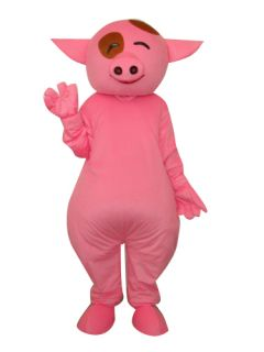 Smile Pink Mcdull Pig Adult Size Cartoon Mascot Costume