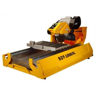 SawMaster Orange 1.5 HP 115 V 6 Blade Capacity Wet Tile Saw with Transportation Wheels