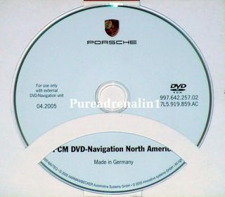 2005 Porsche Boxster s Cabriolet PCM Navigation Map Disc GPS CD DVD US Canada