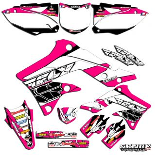 KDX50 Graphics Kit KDX 50 Kawasaki Decals Deco Stickers All Years Pit Bike Pink