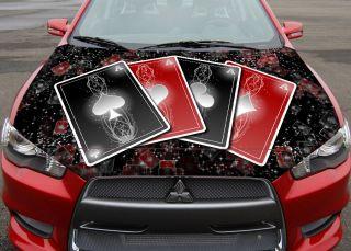 Color Car Sticker Decal Vinyl Hood Aces Dodge Chevy 39
