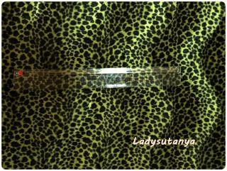 Faux Fur Fabric Animal Print Dark Green in Olive Green Leo Pard Length 1 Yard