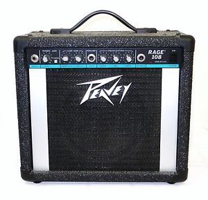 Mint Peavey Rage 108 Portable Electric Guitar Amplifier 12W RMS 4 Ohms Manual