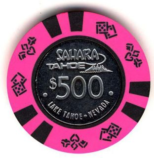 Del Webb Sahara Tahoe $500 Casino Chip Elvis' Place Obsolete Collector Chip