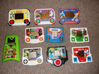 Vintage Hand Held Tiger Electronic LCD Games Lot Battletoads TMNT Disney