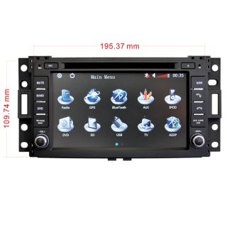 Car GPS Navigation Radio HD Touch Screen TV DVD Player for 2006 09 Hummer H3