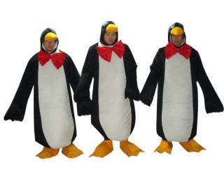 3 Penguin Face Out Cartoon Mascot Costume Fancy Dress