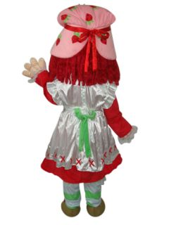 Strawberry Girl Shortcake Cartoon Adult Mascot Costume